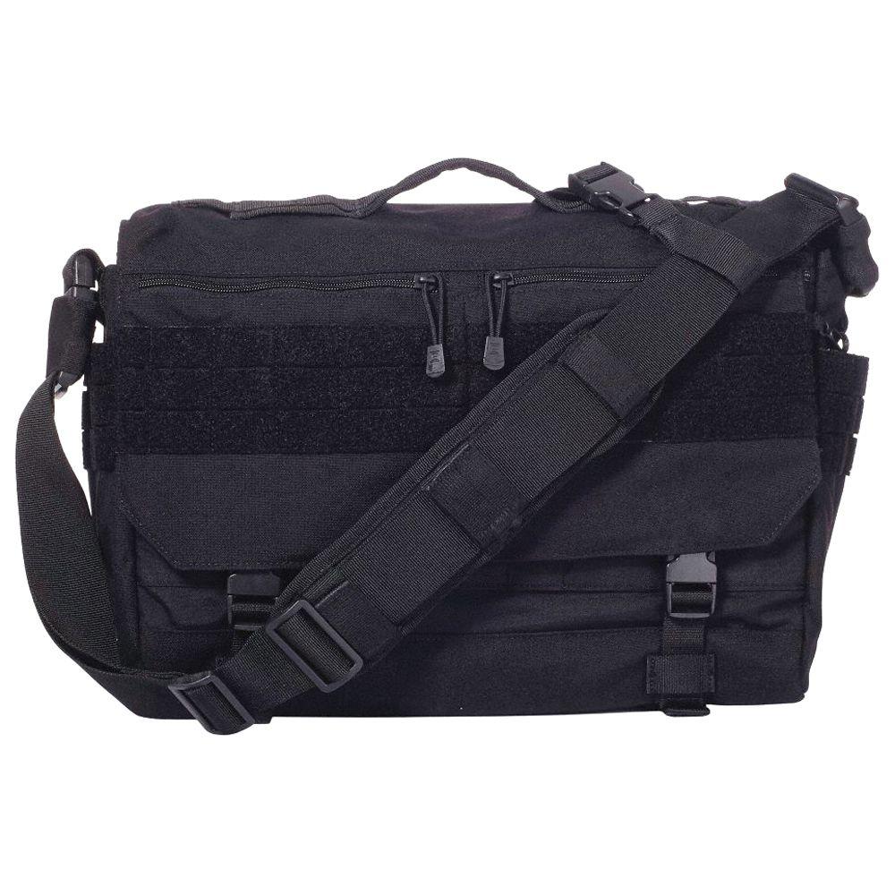 BLACK Molle Messenger Shoulder Carrying Bag Concealed Carry Satchel